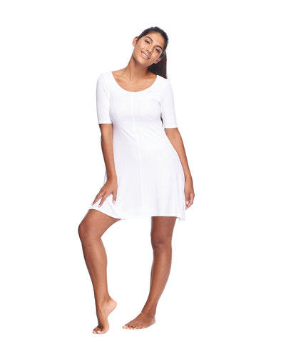 Marcella Cover-Up Dress - Snow