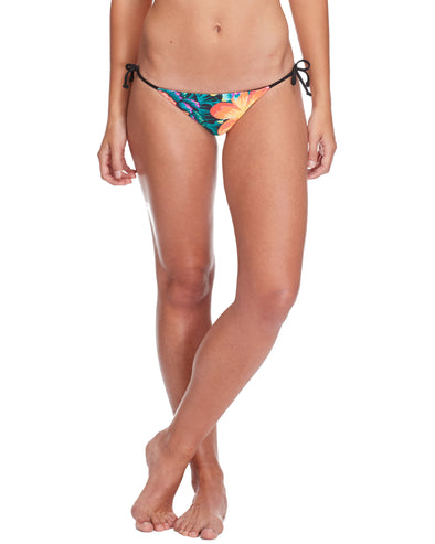 Fleur Tie Side Iris Swim Bottom - Multi