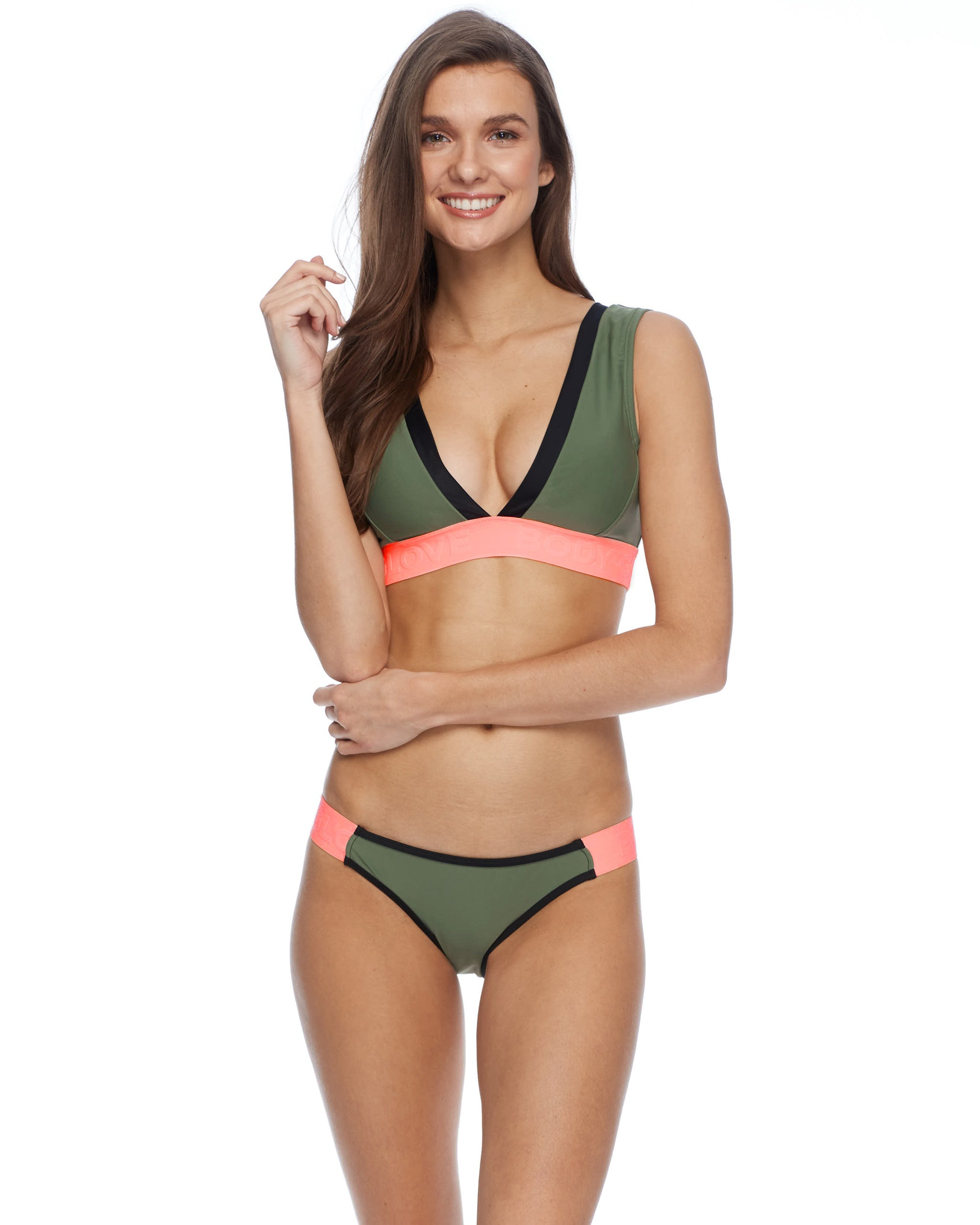 Kid on the Block Rumor Bikini Top - Cactus