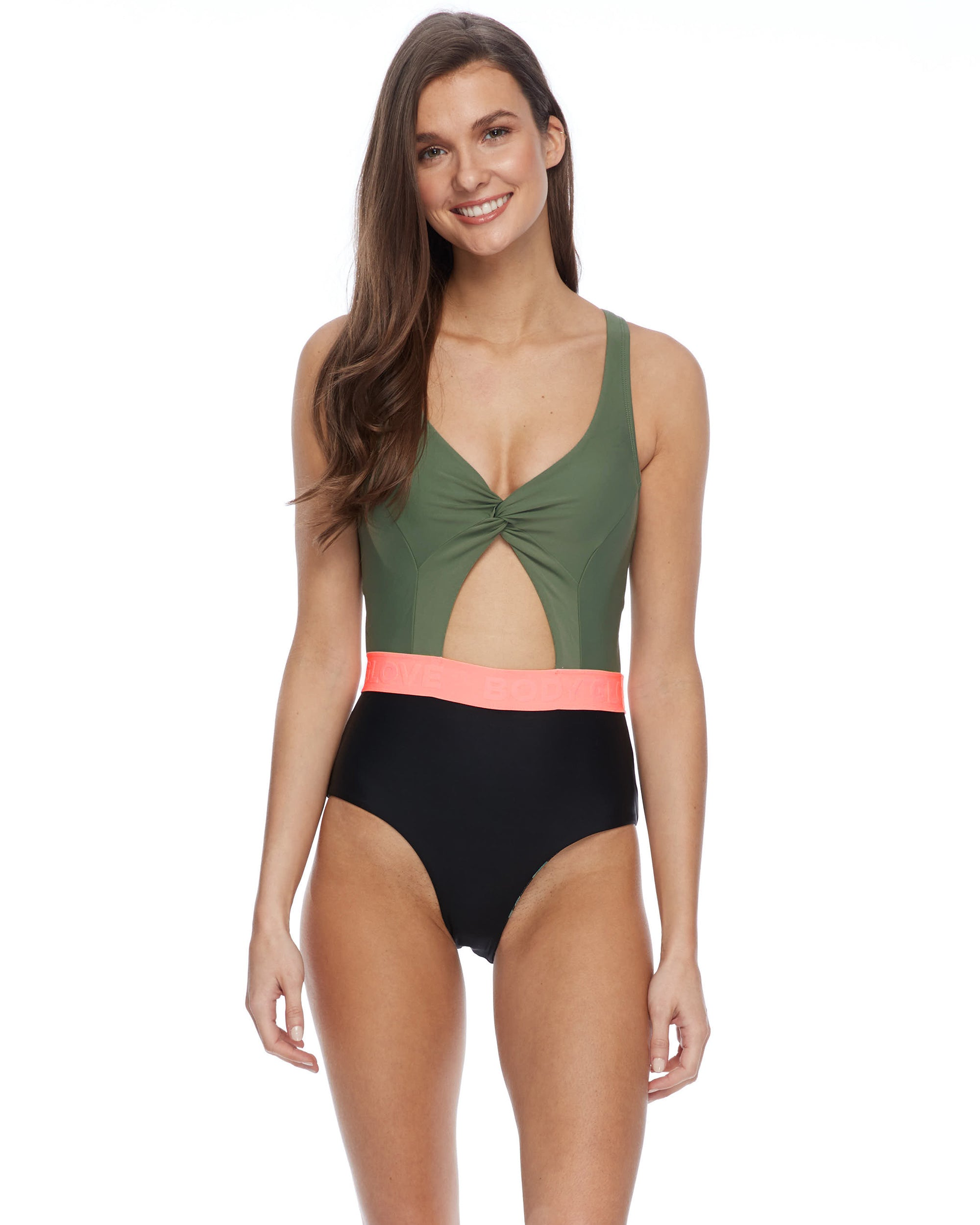 Kid On the Block Pearl One-Piece Swimsuit - Cactus
