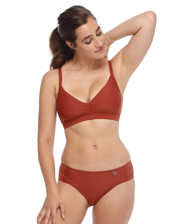 Smoothies Drew D-F Cup Swim Top - Spice