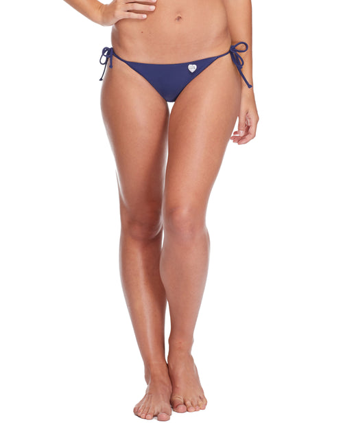 Smoothies Side Tie Iris Swim Bottom - Midnight