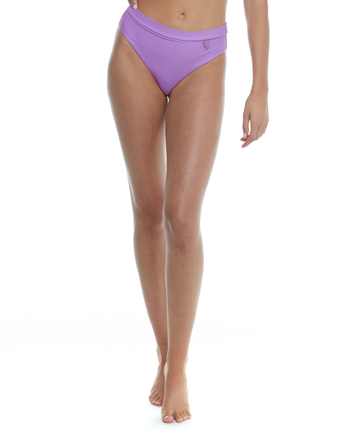 Smoothies Marlee High-Waist Bikini Bottom - Borealis