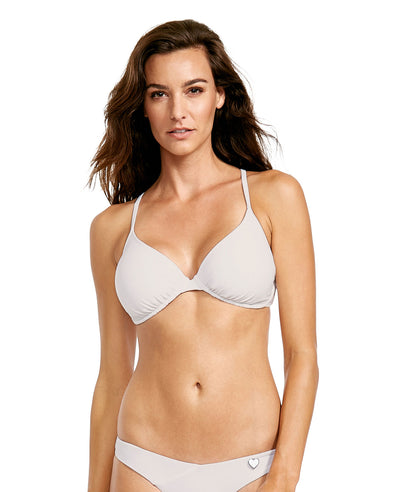 Smoothies Solo D-F Cup Bikini Top - White