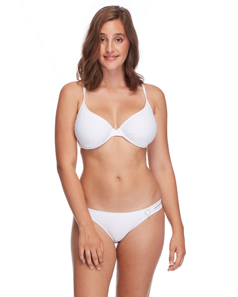 Smoothies Solo D-F Cup Bikini Top - Snow