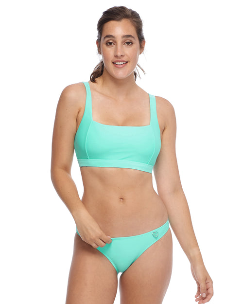 Smoothies Alison D/DD Cup Swim Top - Sea Mist