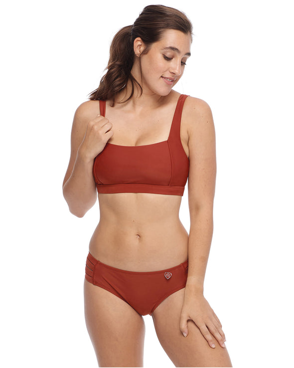 Smoothies Alison D/DD Cup Swim Top - Spice