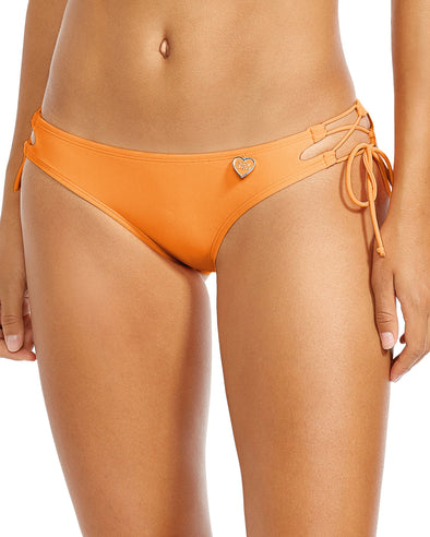 Smoothies Tie Side Mia Swim Bottom - Mango