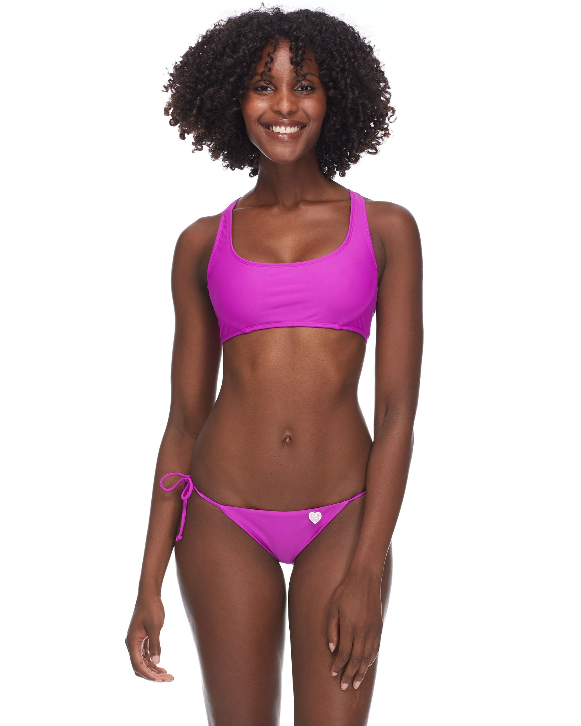 Smoothies Sasha Racerback Swim Top - Magnolia