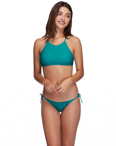Smoothies Elena Halter Swim Top - Peacock