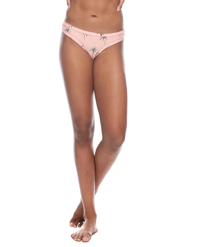 Rio Audrey Low-Rise Bikini Bottom - Dusty Pink
