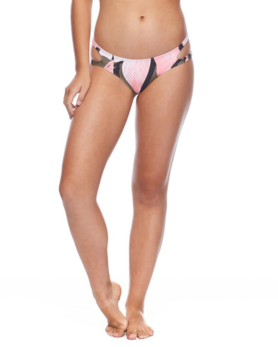 Surface Fun Bikini Open-Side Swim Bottom - Cactus