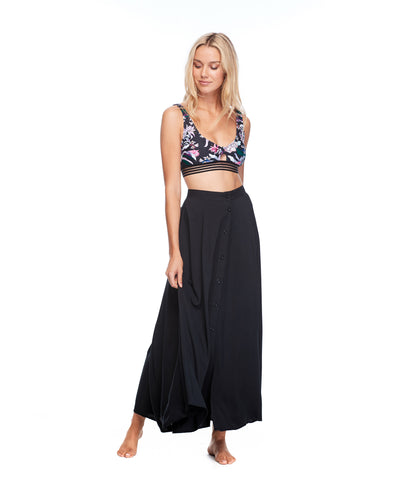 Lisa Cover-Up Maxi Skirt - Black