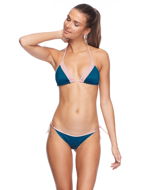 Stamina Dita Triangle Bikini Top - Prussian