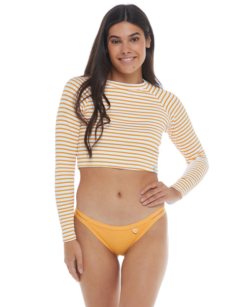 French Riviera Let It Be Cropped Cross-Over Rash Guard - Sundream