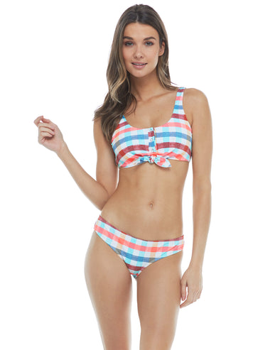 La La Land Kate Crop Tank Bikini Top - Combo Multi