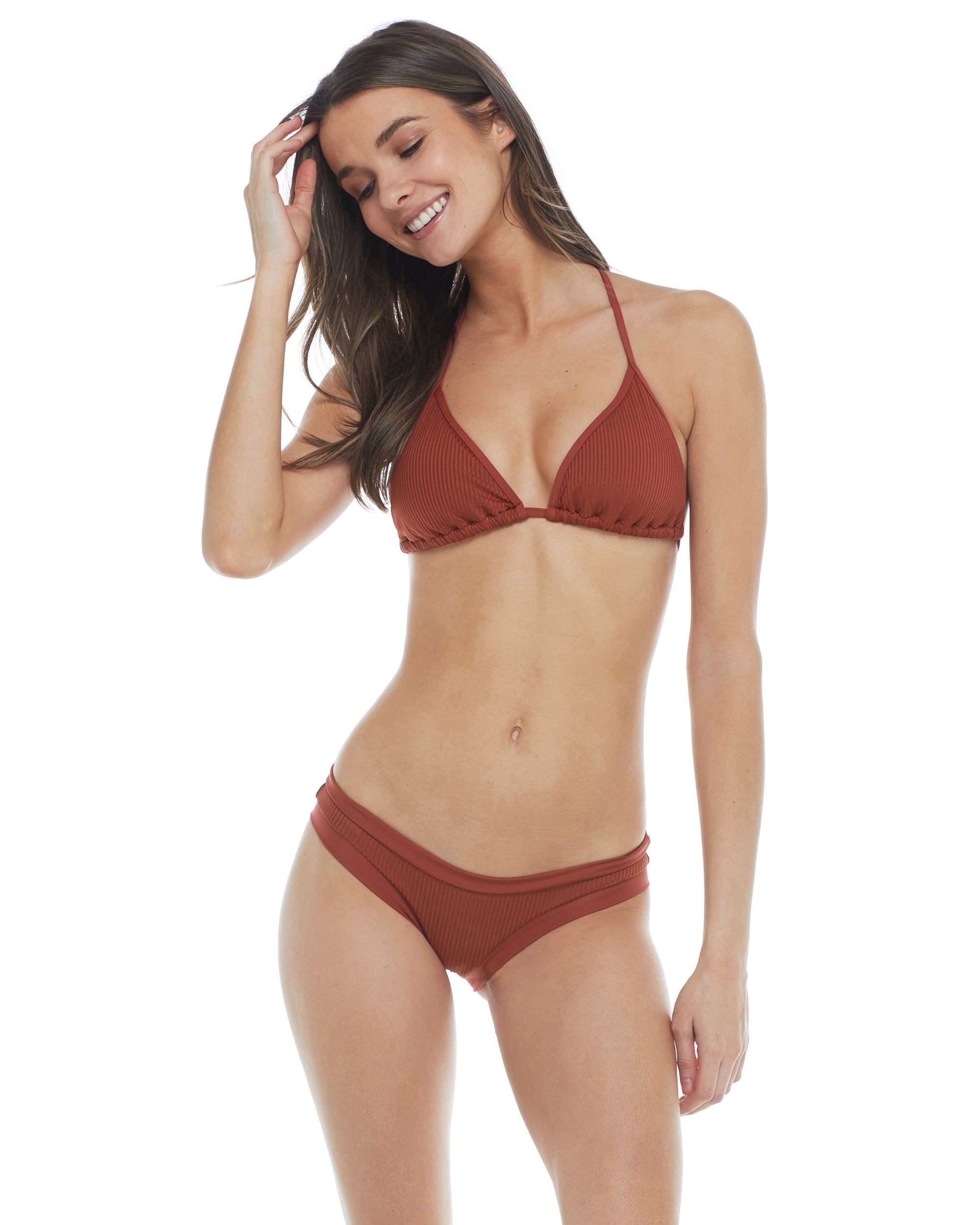 Mindful Eco-Conscious Dita Triangle Bikini Top - Spice