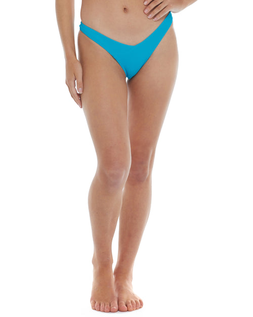 Spectrum Dana High-Hip Bikini Bottom - Neon Blue