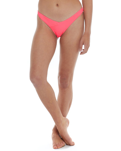 Spectrum Dana High-Hip Bikini Bottom - Neon Pink
