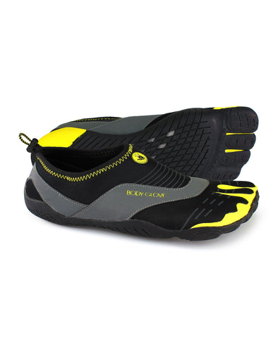 Men's 3T Barefoot Cinch Water Shoe in Black/Yellow