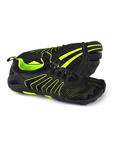 Men's 3T Barefoot Hero Water Shoe in Black/Yellow