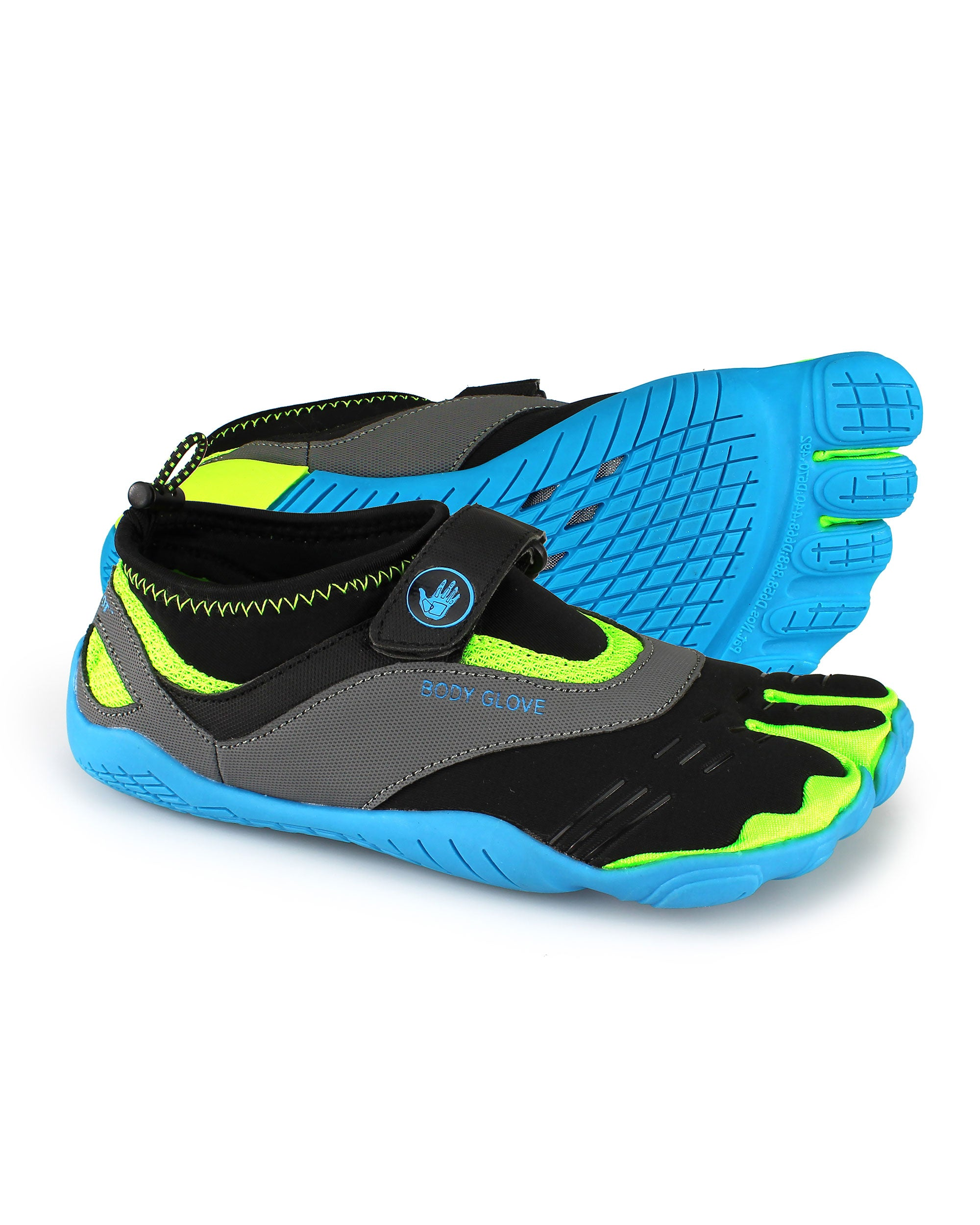 Women's 3T Barefoot Max Water Shoes - Neon Blue/Neon Yellow