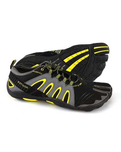 Men's 3T Barefoot Warrior Water Shoe in Black/Yellow