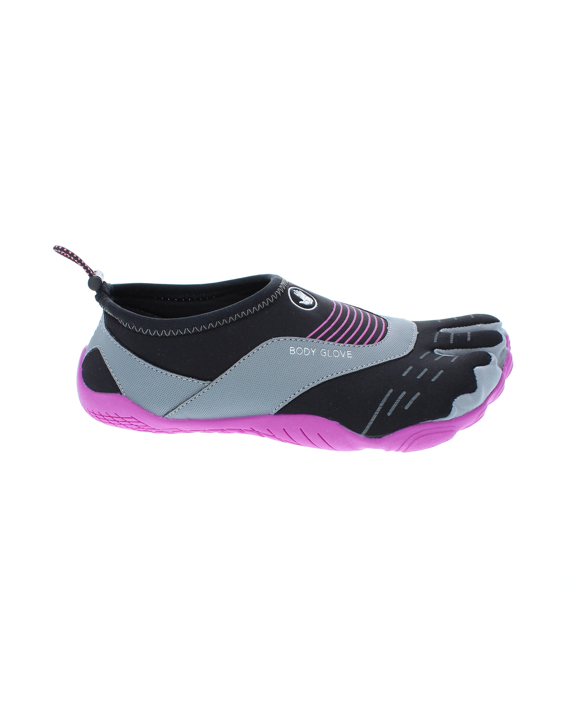 Women's 3T Barefoot Cinch Water Shoes - Black/Flamingo Pink