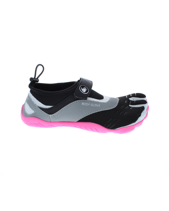 Women's 3T Barefoot Max Water Shoes - Dark Shadow/Neon Pink