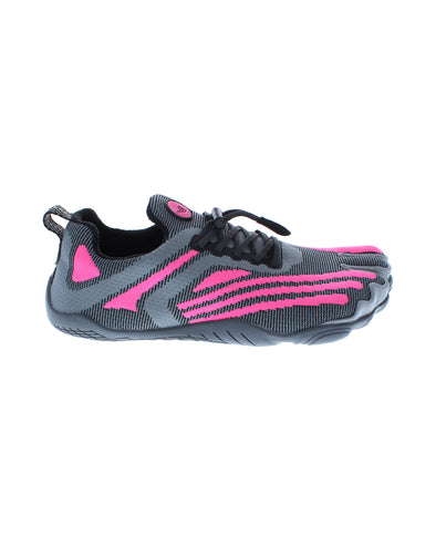 Women's 3T Barefoot Requiem Water Shoes - Dark Shadow/Neon Pink