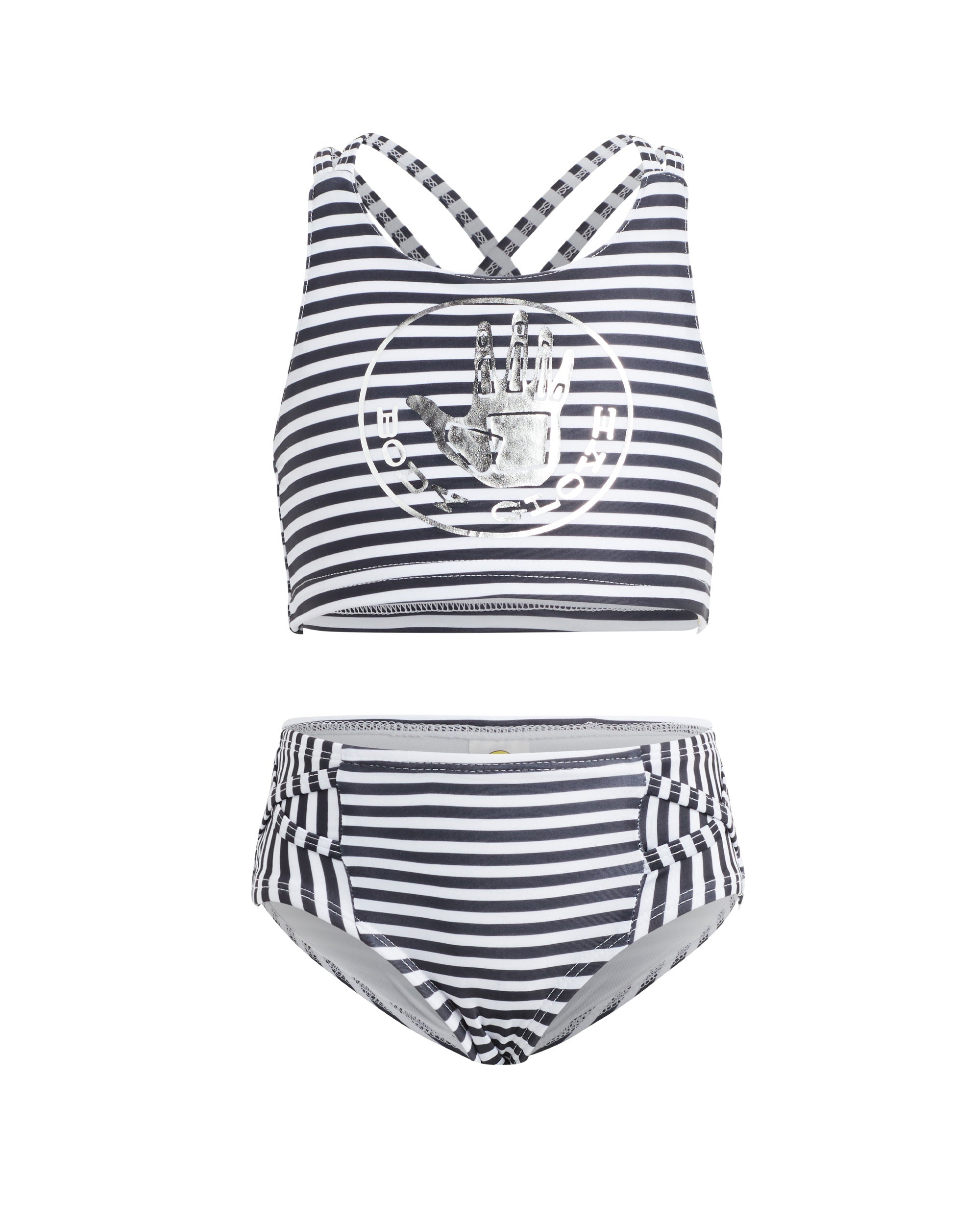 Details about  /Zoggs Girls Daisy Stripe frill Action swimsuit Gr 2-3 Years 2