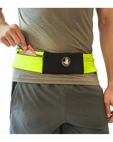 Three-Pocket Fitness Belt Pouch - HiViz