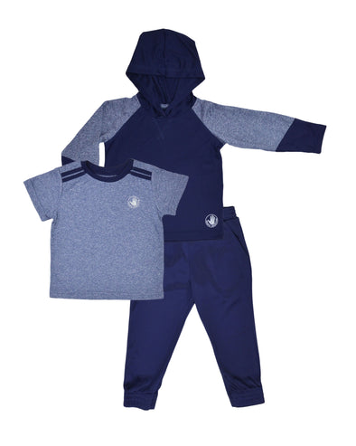 Boys' Three-Piece Activewear Set - Blue 2T-4T