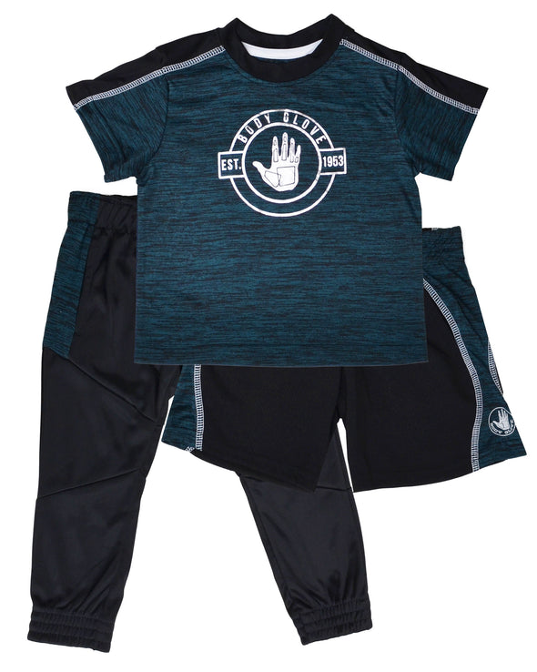 Boys' Three-Piece Activewear Set - Green 2T-4T