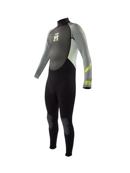 Pro 3 Dive 3mm Back-Zip Men's Fullsuit - Grey/Lime
