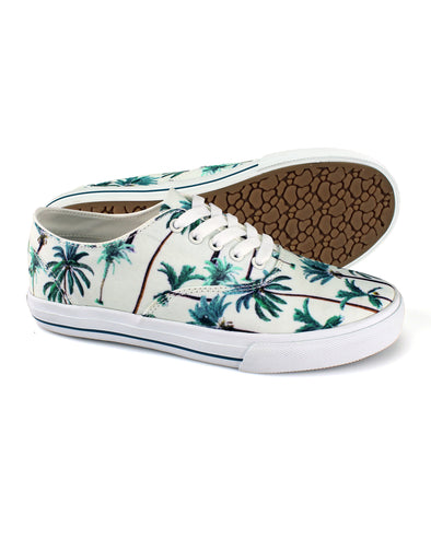 Amalfi Canvas Shoe - Tuile Palm Tree Print