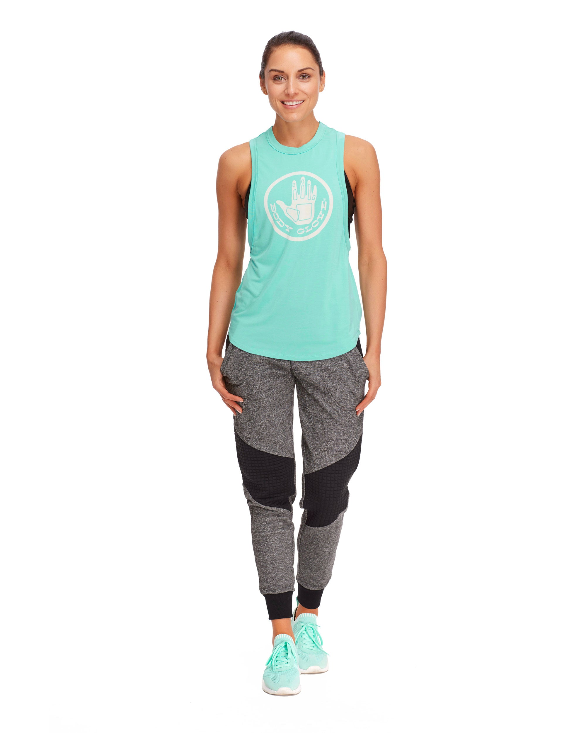 Nora Relaxed-Fit Muscle Tank Top - Seafoam