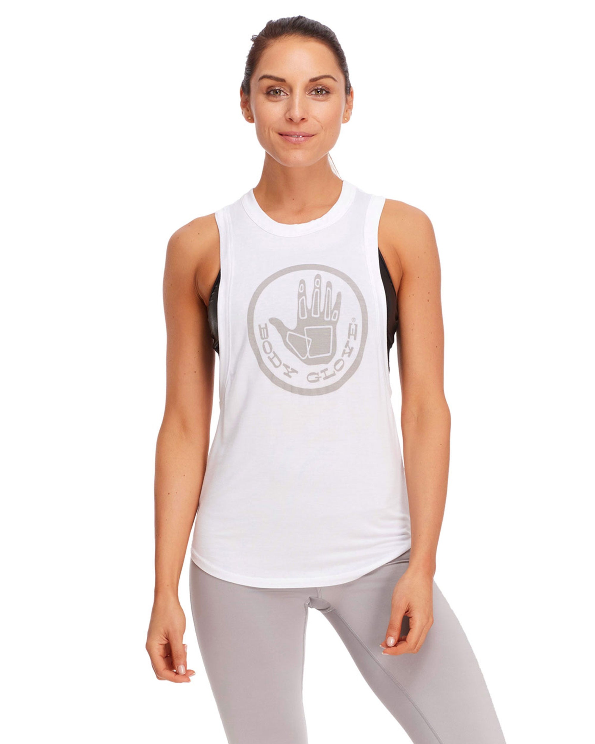 Nora Relaxed-Fit Muscle Tank Top - White