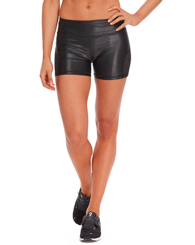 Spring Performance Wet Look Short - Black
