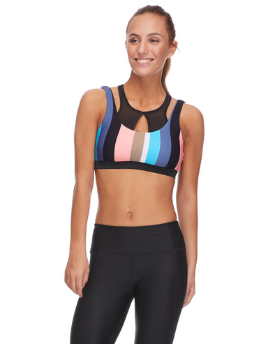 Longevity Medium-Support Cross-Over Sports Bra - Multi