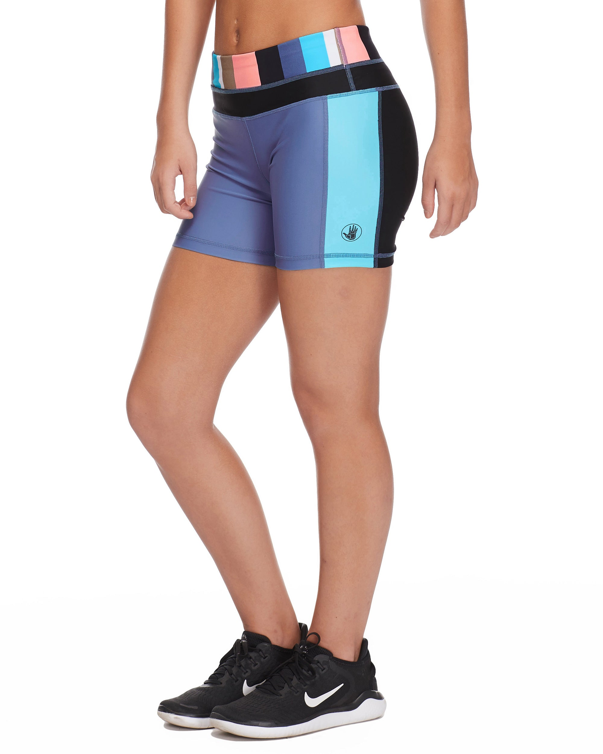 Splash Performance Cross-Over Short in Stripe it Up - Multi