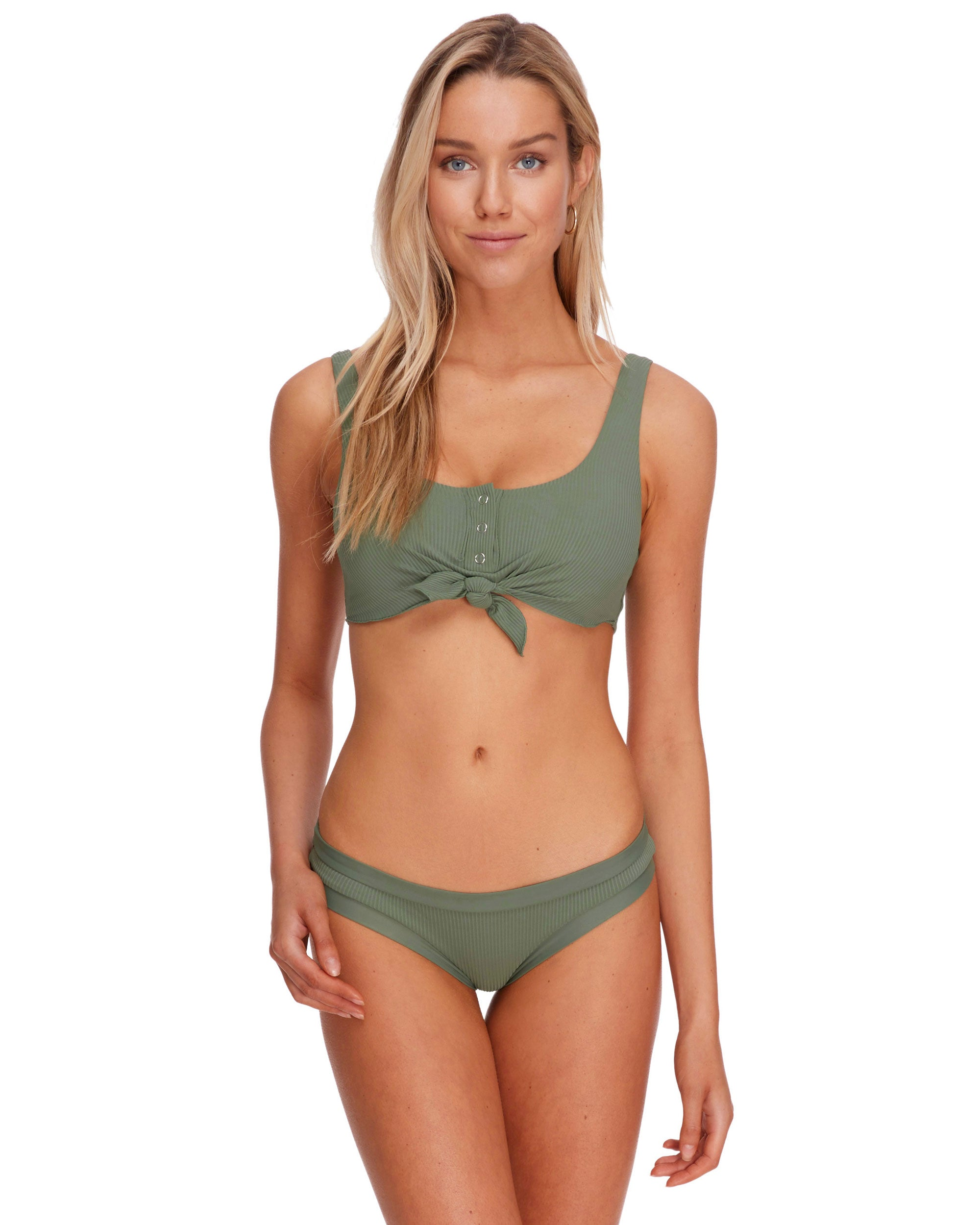 Ibiza Kate Crop Tank Swim Top - Cactus