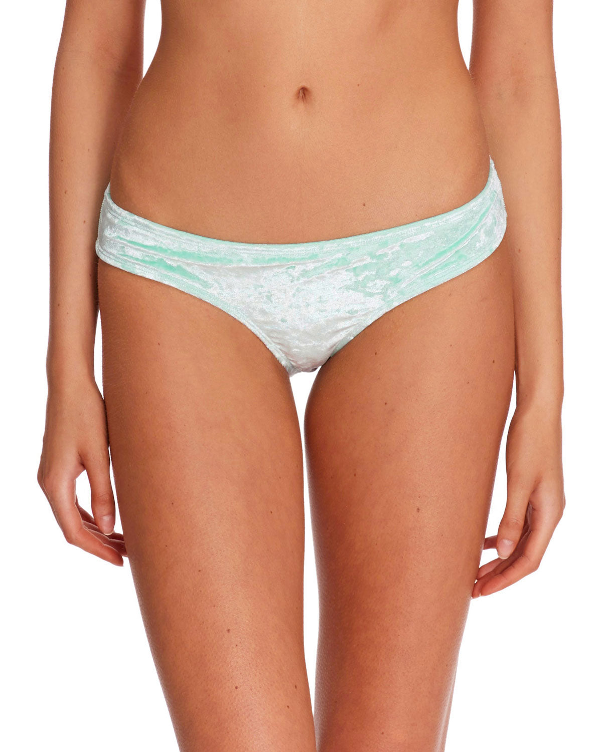 Keri Velvet Lola Swim Bottom - Seafoam