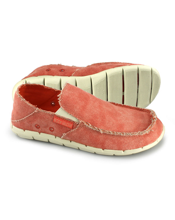 Women's Boardwalker Shoes - Coral/Parchment