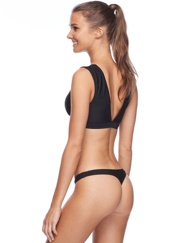 Smoothies Thong Swim Bottom - Black