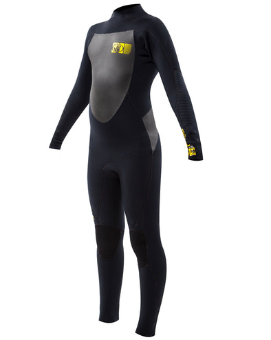 Youth Siroko 4/3mm Back-Zip Fullsuit - Black
