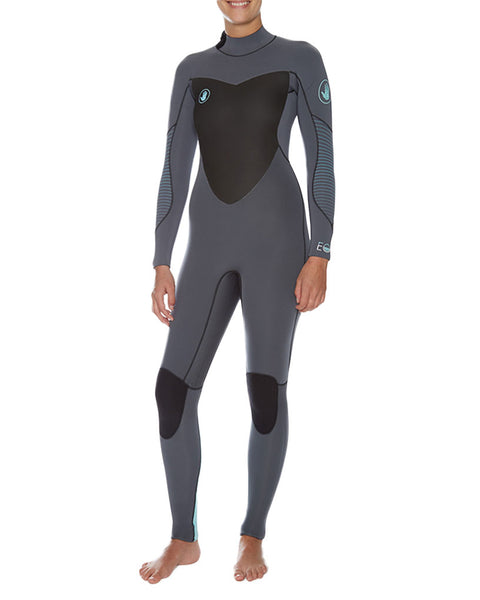 Triton 7mm Women's Back-Zip Fullsuit - Black