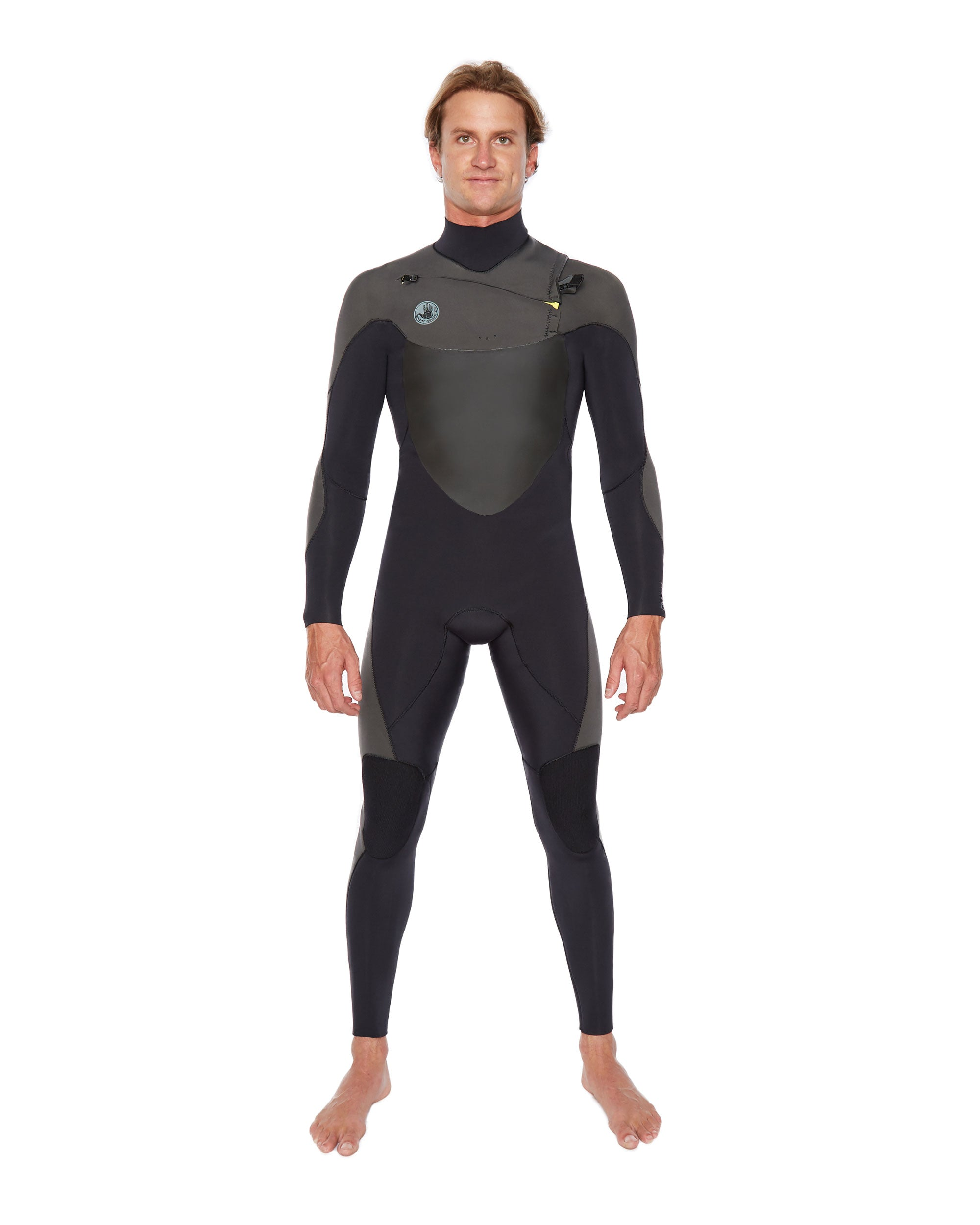 Siroko 3/2mm Slant-Zip Men's Fullsuit - Black