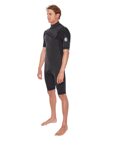 PR1ME 2mm Short Sleeve Men's Springsuit - Black