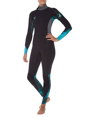 Women's Stellar 3/2mm Back-Zip Fullsuit - Turquoise